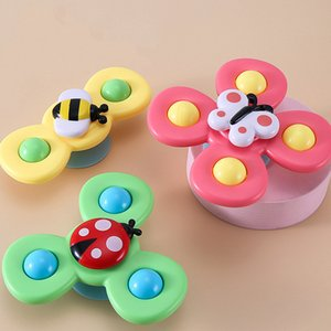 Baby Rattles Fidget Spinner Baby Bell Toy Bath Newborn Comfort toy Pink Yellow Green Parent-child interaction Relaxr Butterfly Insects Bees