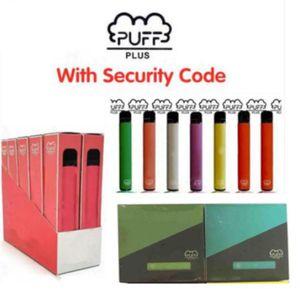 Disposable Vape Puff Plus Puff Bar Plus Disposable Device Vape Pen 3.2ml Pre-filed Pods 550mAh Battery 800 Puffs Cartridge E-Cigs