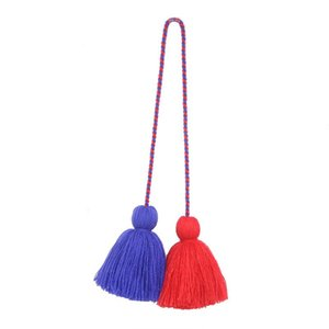 4pcs Charm Fat Tassel Fringe Pendentif Corde DIY Home Rideau Textile Artisanat Accessoires Suspending Tassels Multicolore Frange Trim H Jllkoo