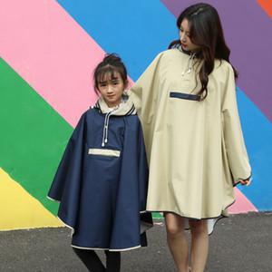 Parent-child Raincoat Women Men Waterproof, Hooded Rain Coat Poncho Jacket for Children kids Rainwear Universal Waterproof J1211
