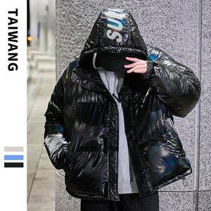 Taiwang Mens Abbigliamento Down Jacket Mens 2020 Nuovo Cappotto di marca originale Brand Mens Inverno Glossy Stampato Piumino