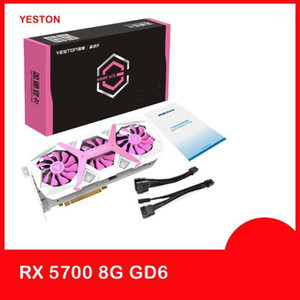 Yeston RX5700 Gaming Graphics Card XT GPU 8GB GDDR6 256BIT اللباس Tycoon Pink Super Evolution 7nm Desktop PC Video PCI-E 3.01