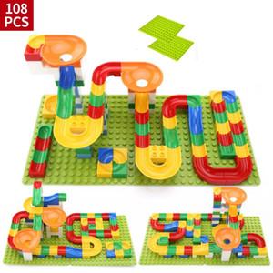 Hot Sale Crazy Marble Race Run Maze Ball Track Building Blocks Plastic Funnel Slide Toy