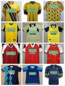 Retro Arsen Banana 1982 92 93 94 97 1998 1999 الصفحة الرئيسية هنري Bergkamp Away Soccer Jerseys 2000 2001 2004 Jersey Highbury Football Commet
