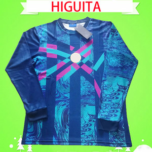 1990 rétro gardien de but à manches longues anciennes higuita colombia gardien de but de but de football columbia football jersey vintage classique antique collection