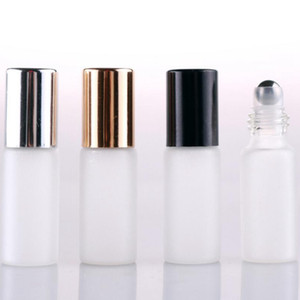 5ml de vidrio esmaltado botellas de aceite esencial de acero cosmético portátil rodillo roll-on botella de perfume botellas de pulverización perfume roll-on botella EEE2194