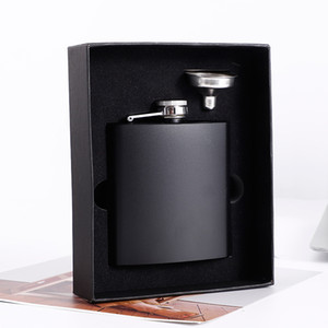 8oz Edelstahl Wine Pot Cup Trichter Kit Matte Schwarz Hüftflasche Tragable Whisky Champagner Flasche Heißer Verkauf 20 8YX G2