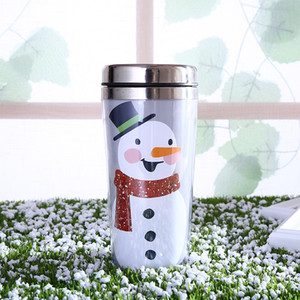 Marry Christmas Theme Insulated Cup Cartoon Water Bottle Stainless Steel Mug Popular Gift Flamingo Pattern Portable Outdoor 12jx ii