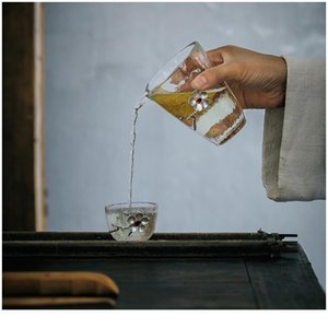 1 pz tazza di tè in vetro cinese kungfu set da tè porcellana tazza da tè accessori da tè puer tazza tazza sistema di stagno piccolo B jllfop