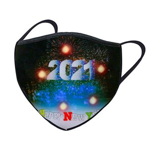 Christmas Luminous Mask 40 Colors Changing Glowing LED Face Mask For Halloween Masquerade Adult Masks CCA2759