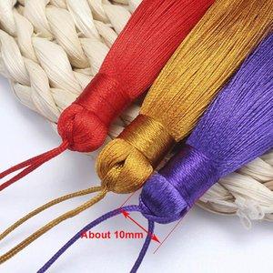10pcs 8cm Brush pendente pendente accessori per orecchini fai da te gioielli per la produzione di seta satinata nappa fatta a mano artigianato risultati fornitore H Bbykod