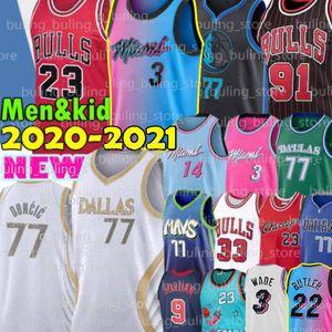 23 Michael Jerseys MJ Bull 77 Doncic Dwyane 3 Wade Luka Dwayne Tyler 14 Herro Butler ChicagoDennis 91 Rodman Scottie 33 Pippen