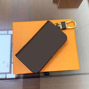 Mode Schlüssel Schnalle Geldbörse Auto Keychain Handgemachte Leder Schlüsselketten Mann Frau Geldbörse Anhänger Zubehör 7 Farben für Geschenk