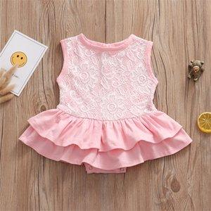 Ready Stock Baby Newborn Girl Romper Baby Girl Princess Lace Jumpsuit Sleeveless Infant Kids Dress Bodysuit Z1128