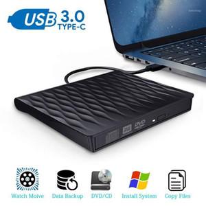Drive DVD USB 3.0 Tipo C Portable Ultra Slim CD DVD DVD Rewriter Writer Drive ottico per Windows Linux Mac OS1