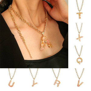 26 English Alphabet Pendant Necklaces Popular Fashion Hip Hop Necklace for Women Girls Statement Jewelry Valentine's Day Gift Kimter-L953FA
