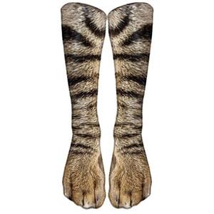 Nova impressão de transferência térmica 3D impresso meias animais unisex adulto cachorro pata garras personalizado meias digitais longas tubo longo DHF3843