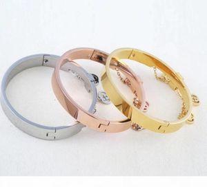 Luxury Designer Charm Bracelets Gold Punk Head Style Couple Bracelets Stainless Steel Bangles Cuffs Bracelet Jewelry For Women55