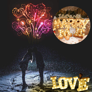 23CM DIY Luminous Lights LED Letter Night Light Creative Letters Alphabet Number Battery Lamp Romantic Wedding Party Decoration