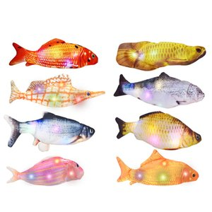 Electric fish usb charging simulation beating fish cat pet toy factory direct sales 24 colors 3 options