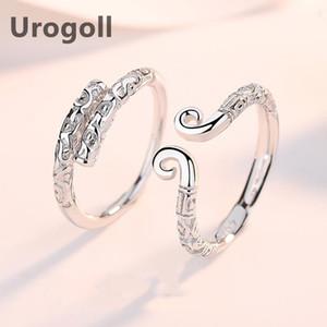 Cluster Ringe Edles Mythologische Paar Ring 100% Echt 925 Sterling Silber Hochzeit Liebhaber Schmuck für Valentinstag