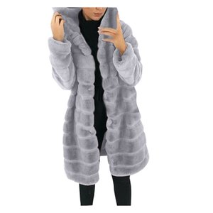 2020 Women Autumn Winter Solid Color Long Sleeve Fleece Loose Warm Jacket Coat Womens Clothing Femme Veste #YL5 A1112