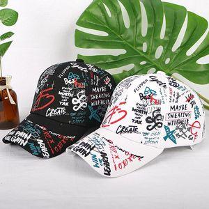 Spring graffiti printing baseball cap Child parent hat Long tail hip-hop hat Wholesale cap