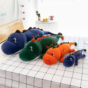 Carino e carino Dinosaur Doll Cartoon Fumetto Piuma Bed Bambola Doll Pillow Lying Dinosaur Peluche Giocattolo