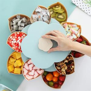 Dropship Dulces Candy Box Bloom Rotating Jewelry Organizer Kids Snack Semilla Nueces Contenedor Almacenamiento para el hogar para la fiesta de bodas