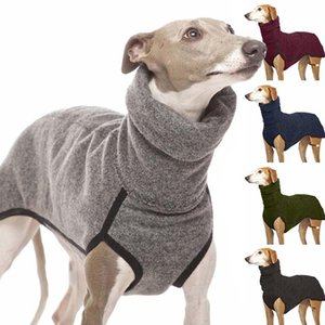 High Collar Big Dog Coat Pet Clothes for Medium Large Dog Winter Durable Warm Fleece Pharaoh Hound Great Dane Pullovers Supplies