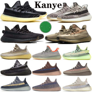 kanye west sply 350 v2 zapatos Asriel lino Israfil 2020 Kanye West Zapatos para Hombres Zyon Desert Sage tinte azul estático zapatillas de deporte al aire libre