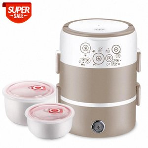 Portable Mini Cooker 270W 2 L Three Layer Stainless Steel Bowl Electric Lunch Box #I72t