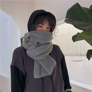 Vintage Knit Cashmere Scarf Thick Ladies Winter Pashmina Plain Long Warm Comfortable Autumn Man Woman Wrap Blanket Scarf