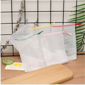 Soap Foam Mesh Bag Soap Storage Bags Bathroom Cleaning Gloves Mesh Mosquito Net Soap Mesh Bag Manual Bag Bathroom Accessories YYS3484