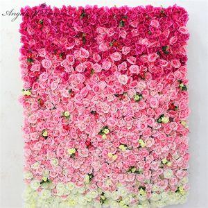 1m*1m custom artificial panel backdrop wedding art for hotel Christmas decor silk flower wall row Z1120