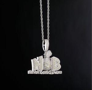 hip hop Purse diamonds pendant necklaces for men women Religion luxury necklace jewelry gold plated copper twist chain