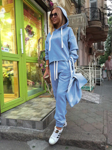 2020 New Women Fashion Tracksuit Set Sports Hoodies Suit Tops and Long Pants Sweatshirt Suits Sportwear