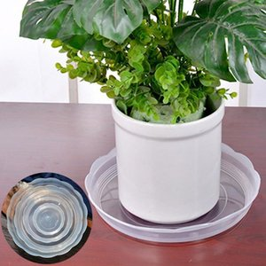 10Pcs 14 16 18 20 24cm Plastic Clear Home Garden Flower Pot Planter Tray Saucers able to protect surfaces from water leaking .1