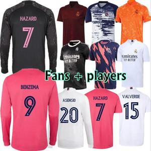 ريال مدريد 2020 2021 ما قبل مطابقة دعوى التدريب لكرة القدم الفانيلة 20 21 خطر أسيندو فينيسيوس بنزيما كاميسيتا لكرة القدم قميص طويل مجموعات