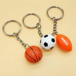 Football Rugby Basketball Keychain Fashion Sporting Goods Key Ring For Women Men Car Bag Pendant Key Holder