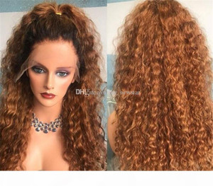 1b#30# curly Pre Pucked Full Lace Wigs For Women Peruvian Remy Hair Full Lace Wig Human Hair With Baby Hair