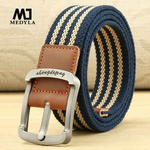 Medyla lona Homem e mulheres Pin Buckle Strap Casual Cintos Jeans Belt Juventude Estudantil Cintura externas