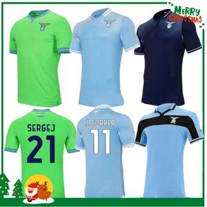 20 21 Jerseys de football Lazio 120e anniversaire 2020 2021 Maglie immobile Luis Bastos Alberto Sergej Football Adulte Hommes + Kit Kit Chemises