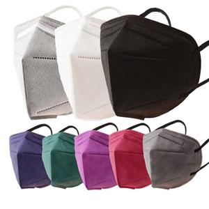 KN95 Mask FFP2 Дизайнерская Маска для лица 95% Фильтр Респиратор KN95 Маски Пылезащитный Анти-Тюба черный Серый Красочный рот Факс Быстрая доставка