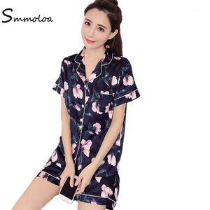 Smmoloa Silk Pyjama Frauen Seide Pyjamas Set Großhandel Pyjama1