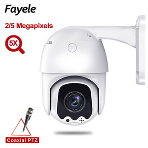 Câmeras CCTV Segurança 2MP 5MP AHD Velocidade Dome PTZ Câmera TVI CVI CVBS 4IN1 Pan Tilt 5x Zoom IP66 Impermeável UTC RS485 PTC Control IR 50m