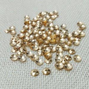 Bijoux Fabriquer des boucles d'oreilles Constatations Beads Fin Casquettes Brincos Fermoir Tassels Flower Filigree Spacer Cordon Crêt Collier Pearls Top WmtPyx