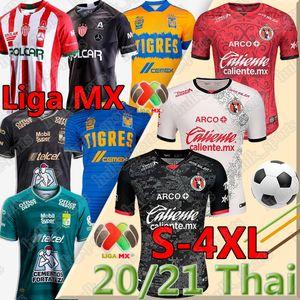 4XL Liga MX 2020 2021 Jersey da calcio Camisetas Hombres Chándal de fútbol club Leon FC Tigres Uanl Necaxa Tijuana Men Kit Camicia da calcio