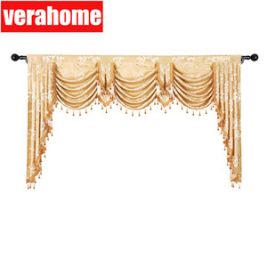 الستار الأوروبي Valance Royal Pelmet الفاخرة الجاكار نافذة تعتيم ستائر مظلة لغرفة نوم غرفة المعيشة LJ201224