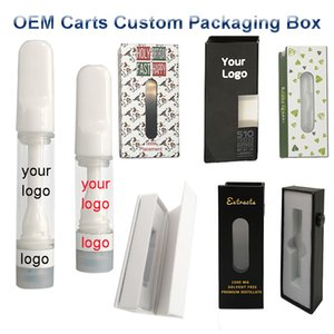 Full Ceramic Carts Custom Logo Vape Cartridges Package Box 0.5ml 1ml Empty Vape Pen Thick Oil Atomizers Childproof Vaporizer Carts Packaging
